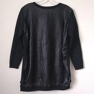 Ladies' Halogen Imitation Leather Front Top (XL)